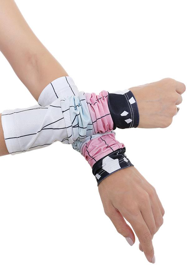 Demon Slayer Shinobu Kochou Sonnencreme Manschette UV-Schutz Cosplay Arm Ice Silk Armstulpen Sports Eismanschette Armschutz