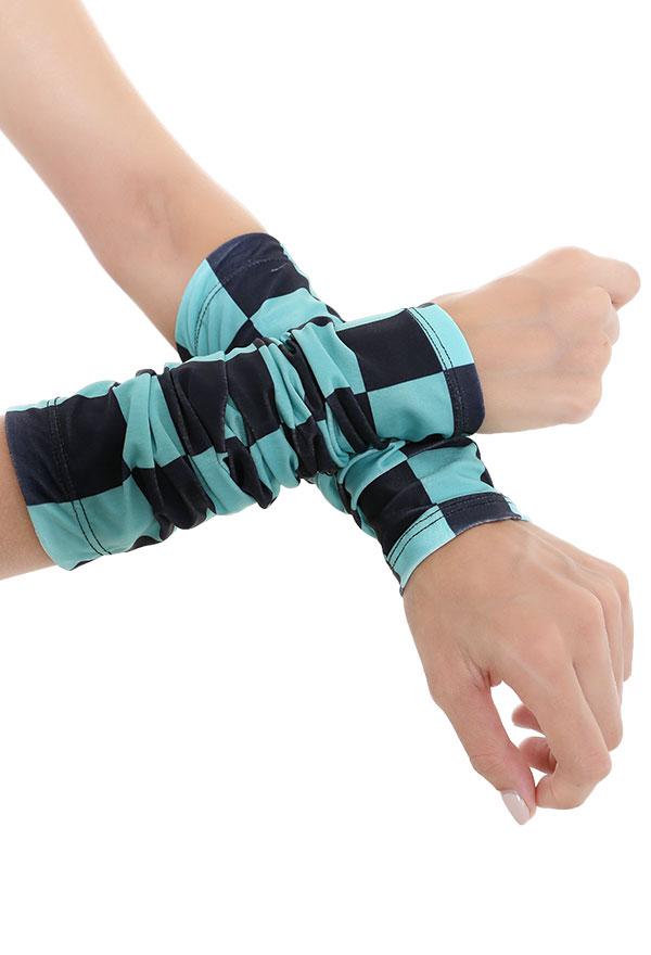 Demon Slayer Tanjiro Kamado Sonnencreme Manschette UV-Schutz Cosplay Arm Ice Silk Armstulpen Sports Eismanschette Armschutz