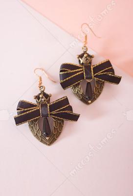 Retro beaded wings beaded earrings
