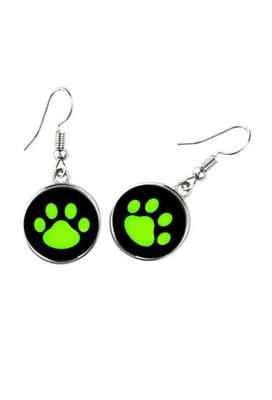 Ladybug and Black Cat Ear Studs Earrings