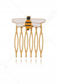 Queen Bee Yellow Hairpin