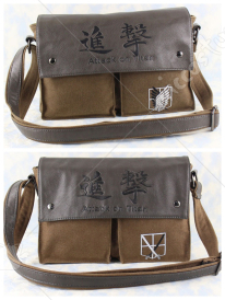 Attack on Titan Leather and Canvas Shoulder Bag