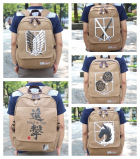 Attack on Titan Canvas Backpack School Bag