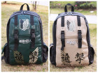 Attack on Titan PU Leather School Bag Backpack