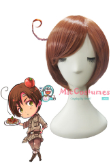 Hetalia Axis Powers South Italy Romano Cosplay Wig