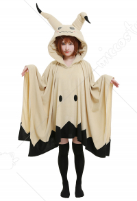 Mimikyu Pikachu Cosplay Costume Cute Hooded Blanket Embroidered Hoodie Pullover Women Long Sleeve Home Wear Cape Cloak with Ears Gloves