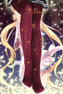 [Free Shipping] Sailor Moon Printed Pantyhose Lolita Velvet Tights Stockings