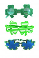 St. Patricks Day Shamrock Glasses Green Sunglasses Green Shutter Shades Glasses for Party Funny Supplies