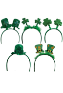 St. Patricks Day Headbands Shamrock Head Boppers for Irish Party Accessories