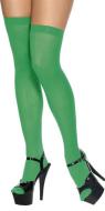 St. Patricks Day Leprechaun Shamrock Pure Green Over Knee High Socks