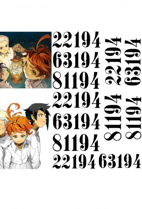 The Promised Neverland Emma Norman Ray Cosplay Digital Tattoo Sticker