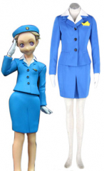 Airline Stewardess Uniform Cosplay Costume