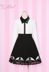 To Alice Small Devil Lolita Shirt and Skirt