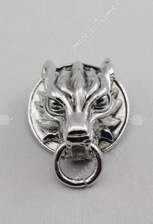 Final Fantasy Wolf Head Badge