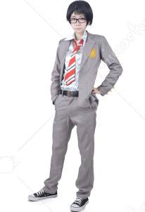 Your Lie in April Kousei Arima Cosplay Costume Men XS