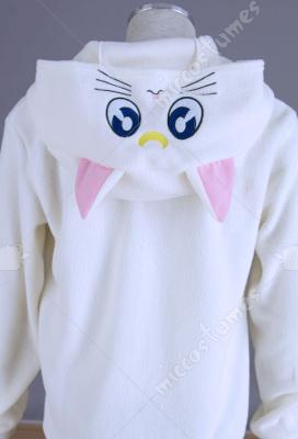 Sailor Moon White Cat Artemis Cosplay Coat