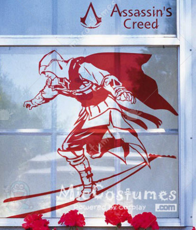 Assassins Creed Red Wall Sticker