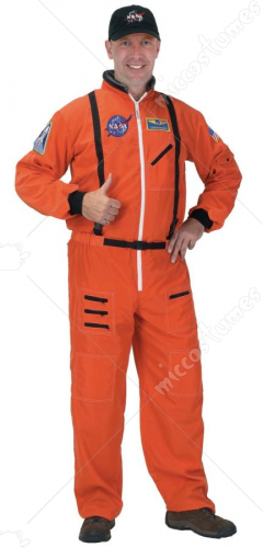 Astronaut Suit Adult Orange Large Adult Costume