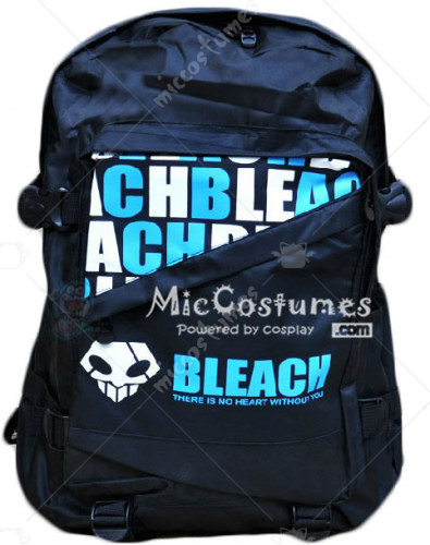 Bleach Blue Print Black School Bag
