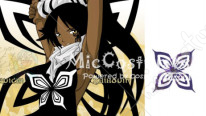 BLEACH Shihouin Yoruichi Cosplay Tattoo Sticker