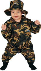 Baby Military Officer Bunting Costume