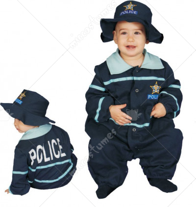Baby Police Officer Bunting Costume