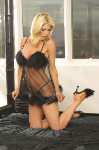 Babydoll Marabou and G-String