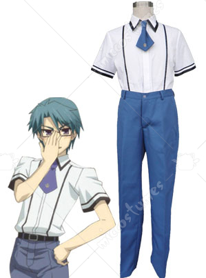 Baka to Test to Shoukanjuu Men Summer Uniform Cosplay Costume