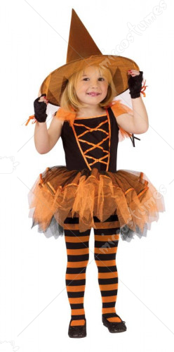 Ballerina Witch Orange Costume