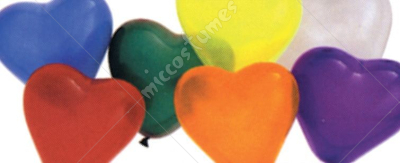Balloon 6In Heart Qualatex Ast