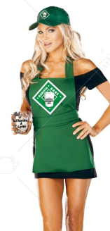 Barista Babe Adult Costume