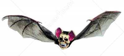 Bat With Skull Head Medium Brown