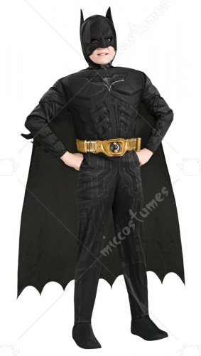 Batman Dark Knight Deluxe Muscle Chest Batman Child Costume