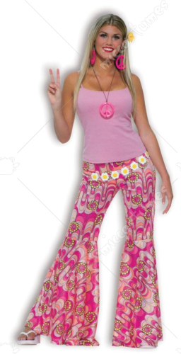 Hippie Flower Power Bell Bottom Pants