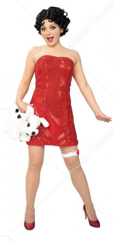 Betty Boop Teen Costume With Wig