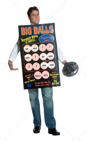 Big Balls Scratch Off Ticket Adult Costume