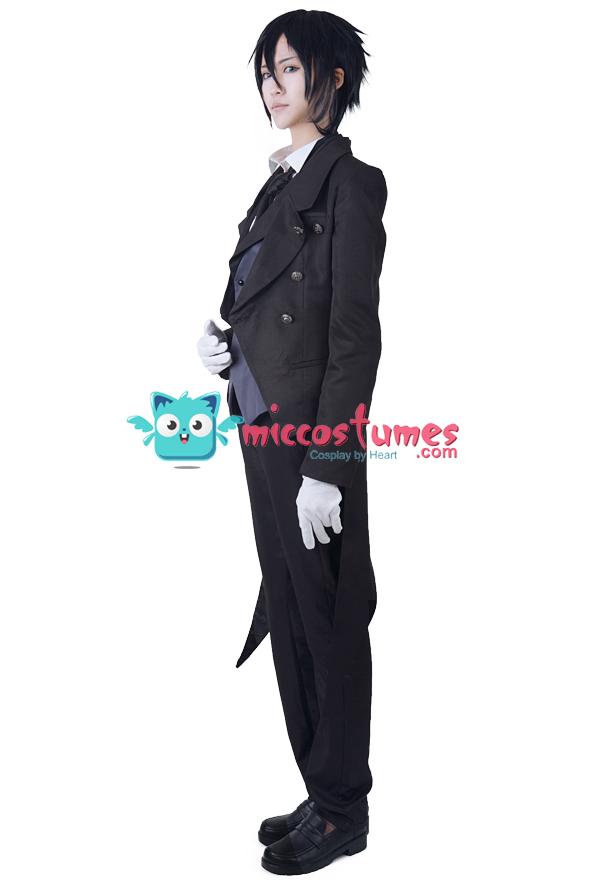 Schwarzes Butler Sebastian Michaelis Cosplay Kostüm