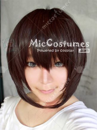 Black Brown Short Cosplay Wig