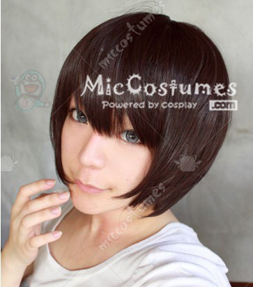 Black Brown Short MSN Cosplay Wig