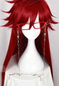 Black Butler Grell Sutcliff Cosplay Glasses and Glasses Chain
