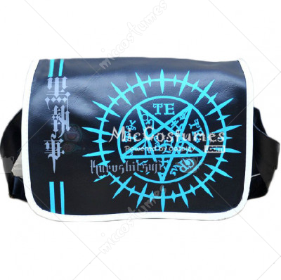 Black Butler Blue Faustian Contract Print Shoulder Bag