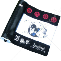Black Butler Ciel Scroll Pencil Bag Black