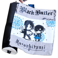 Black Butler Ciel Scroll Pencil Bag Grey