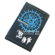 Black Butler Faustian Contract Trifold Canvas Wallet Black