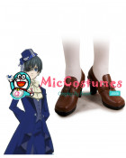 Black Butler Kuroshitsuji Ciel Cosplay Shoes with Metal Detail