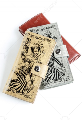 Black Butler Faustian Contract Bifold Long Wallet