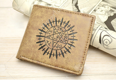 Black Butler Faustian Contract Bifold Leather Wallet