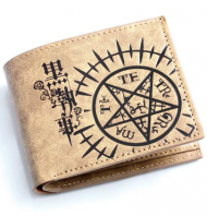 Black Butler Faustian Contract Bifold Wallet Brown