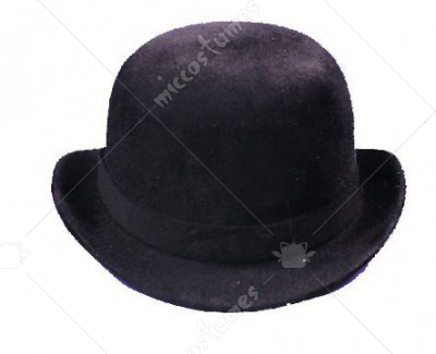 Black Felt Derby Hat