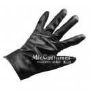 Black Leather Gloves For Cosplay